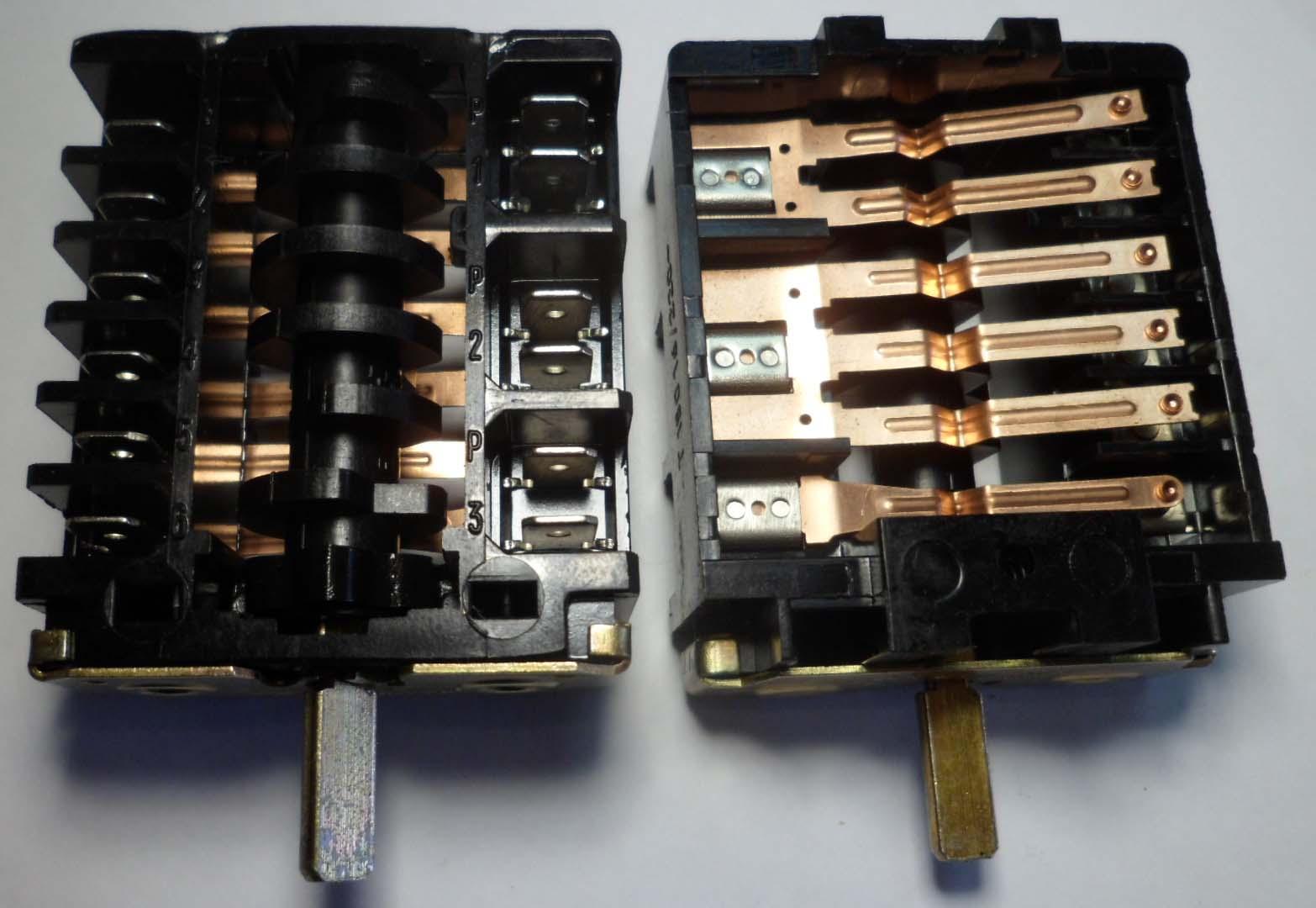 схема подключения переключателя эл.плиты